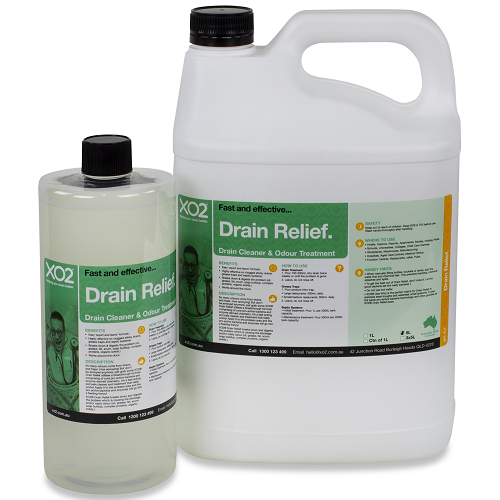 XO2® Drain Relief - Drain Cleaner & Odour Treatment - Size Variants