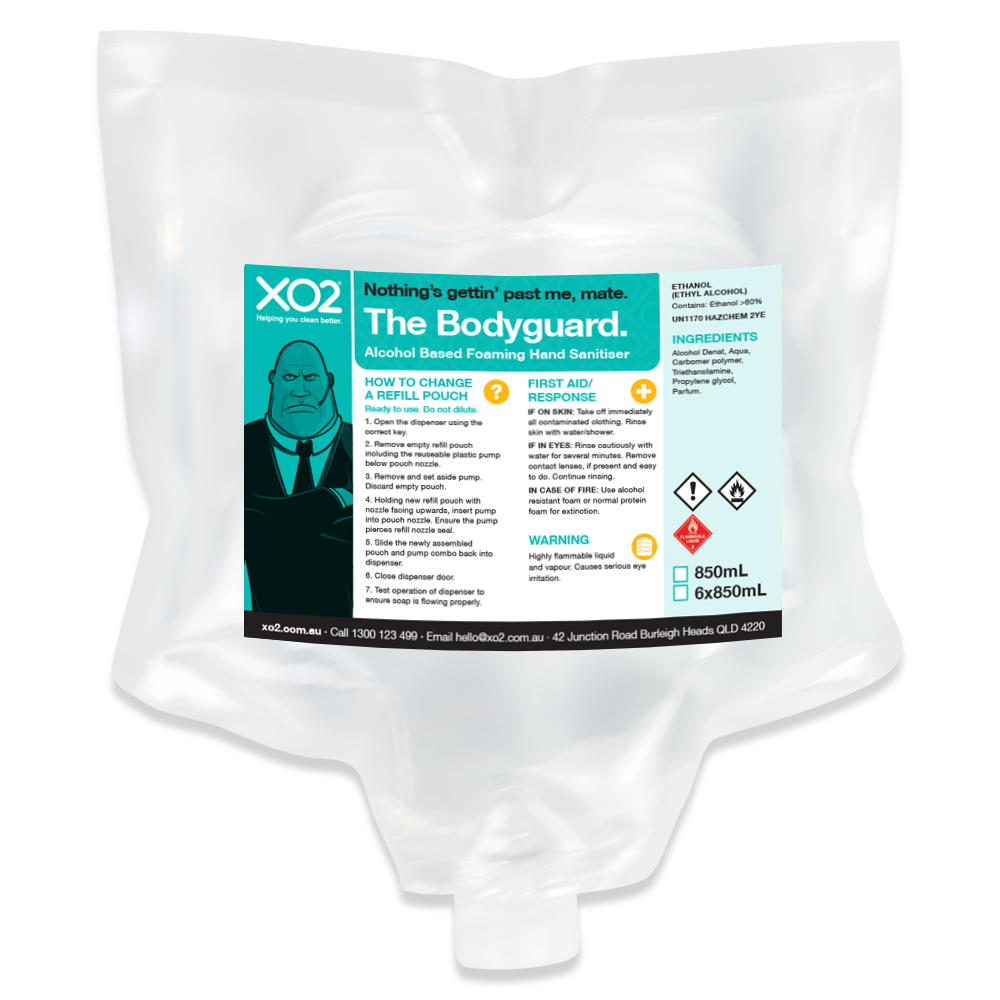 XO2® 'The Bodyguard' Hand Sanitiser Refill