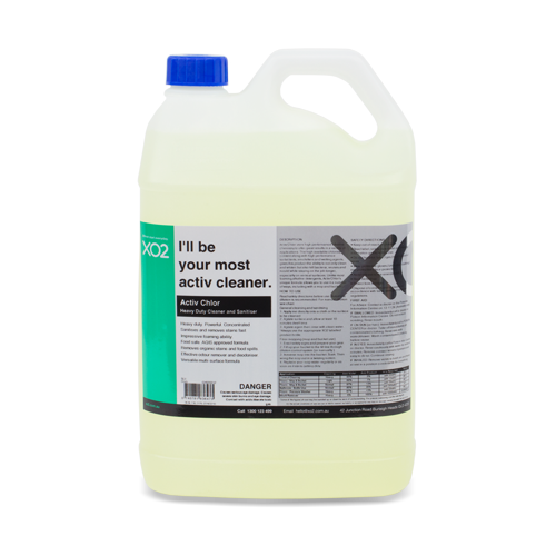 XO2® Activ Chlor - Heavy Duty Chlorinated Cleaner & Sanitiser