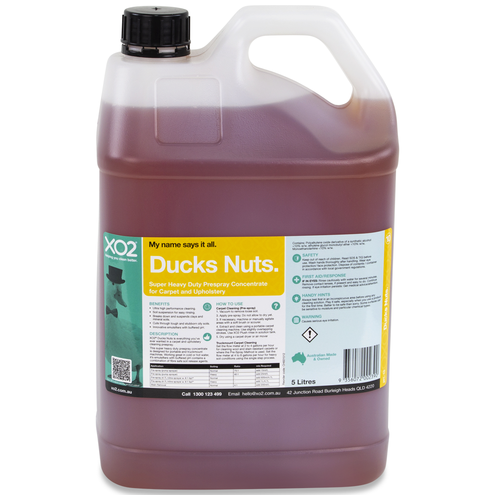 XO2® Ducks Nuts - High Performance Prespray Concentrate for Carpet and Upholstery