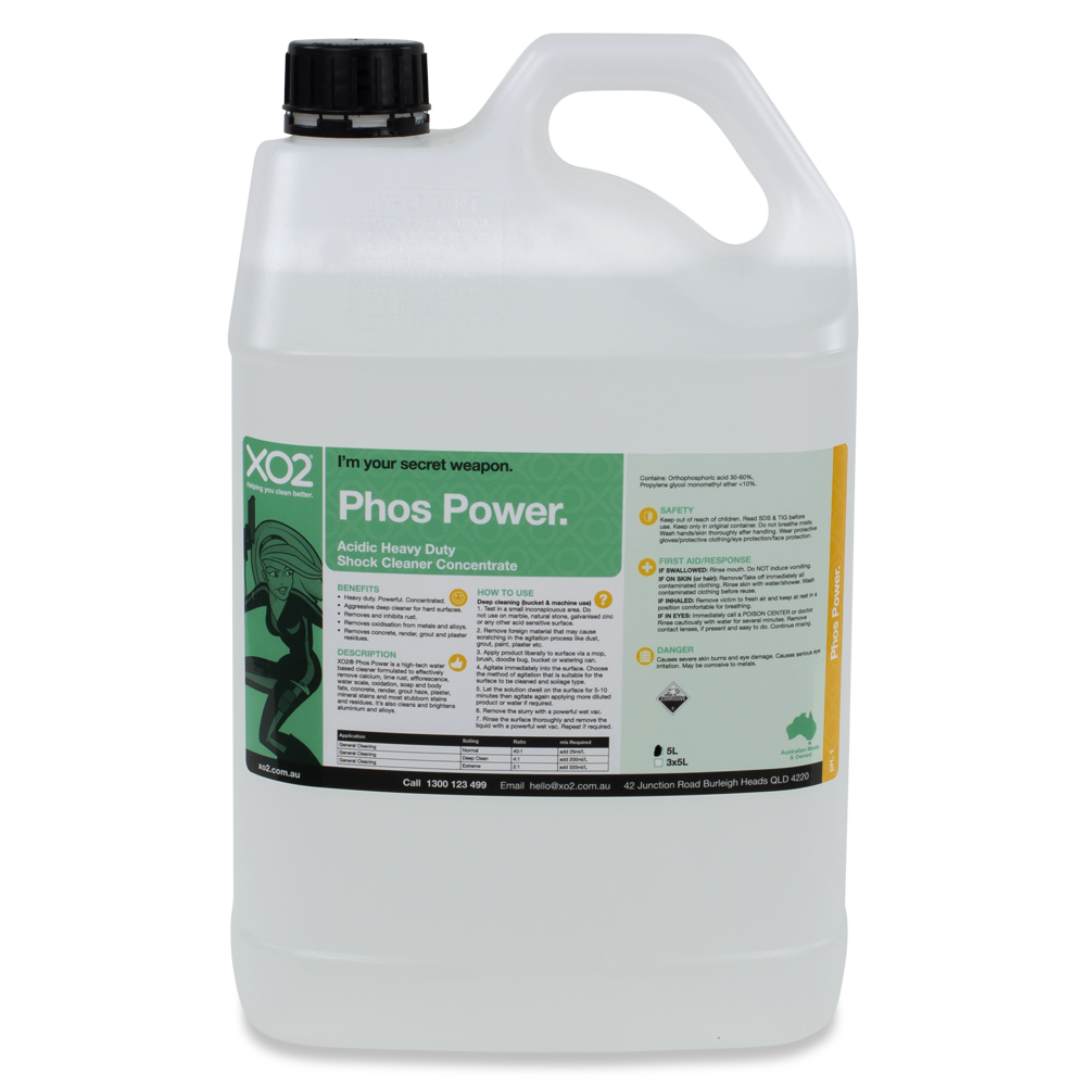 XO2® Phos Power - Acidic Heavy Duty Shock Cleaner Concentrate