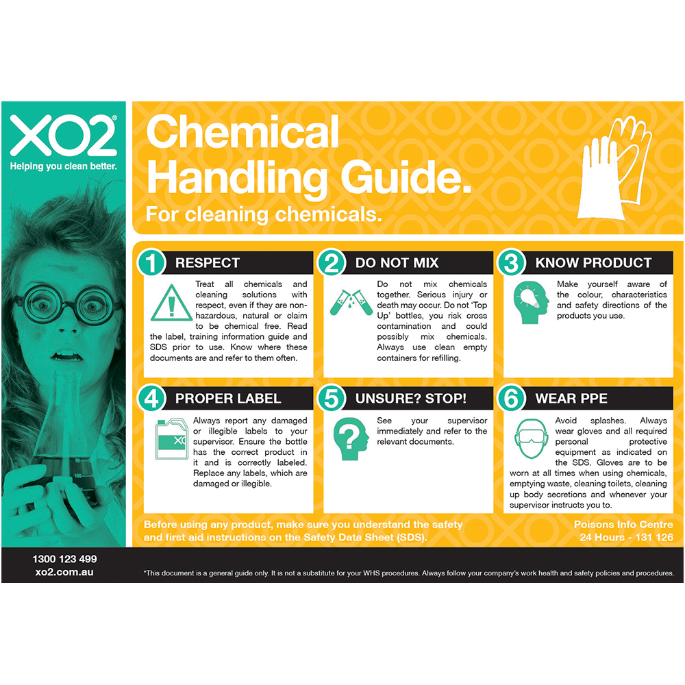 XO2® Safety Sign - Chemical Handling Guide