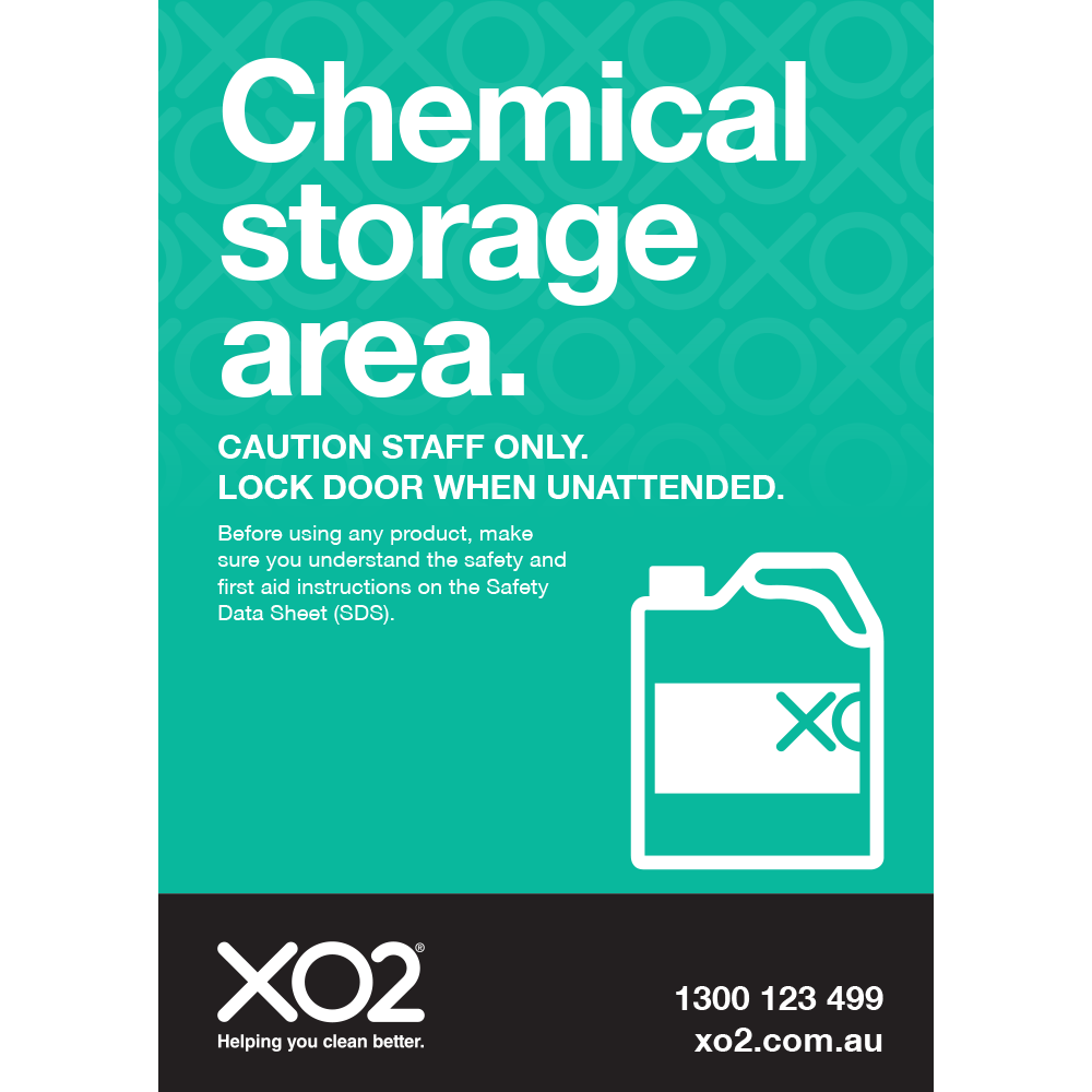 XO2® Safety Sign - Chemical Storage Area