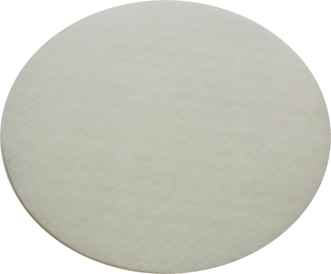 40cm White Sandscreen Driver Pad - For Attaching Sandscreens To A Machine Pad Holder