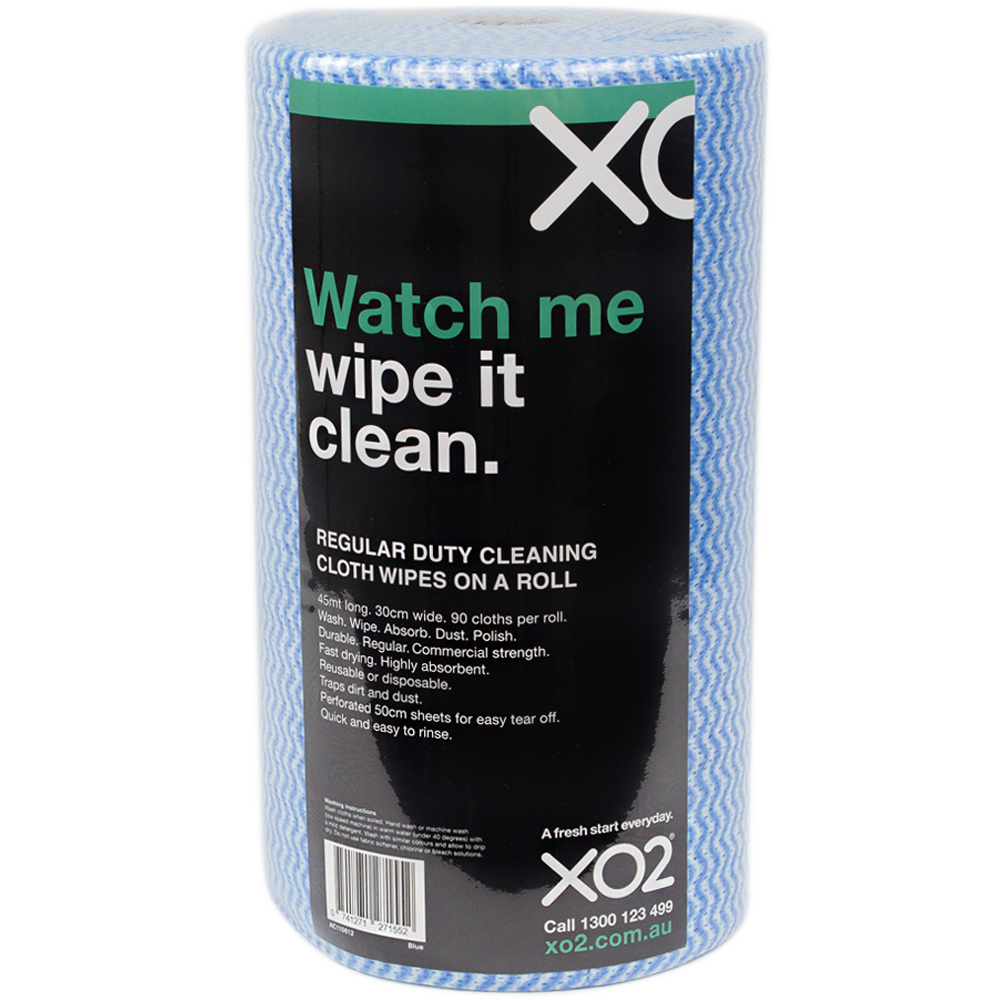 XO2® Regular Duty Cleaning Cloth Wipe On A Roll