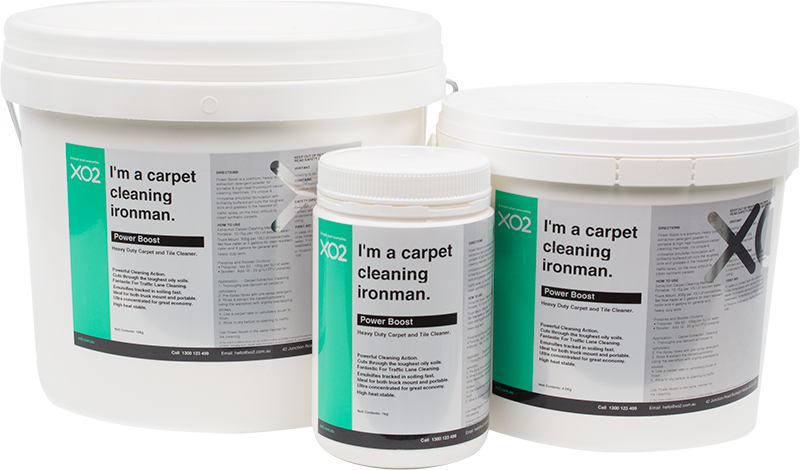 XO2® Power Boost - Heavy Duty Carpet & Tile Cleaning Detergent Concentrate