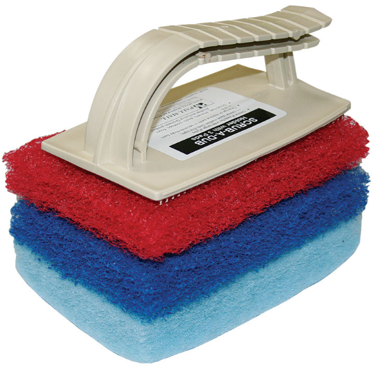 Scrub a Dub Scourer Pad Holder With 3 Pads